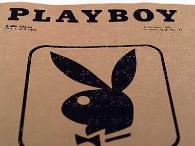Das Bild zeigt die Brailleausgabe der Zeitschrift Playboy