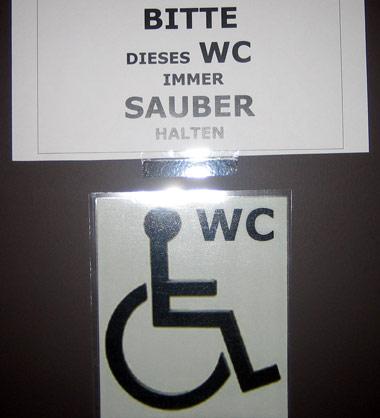 wc sauber halten