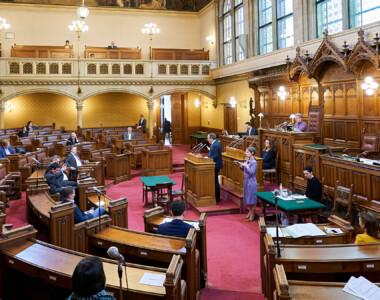 Szene aus dem Wiener Landtag