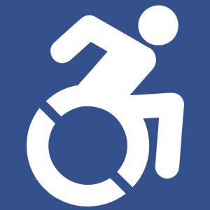 Das bekannte Rollstuhl-Symbol soll durch ein dynamisches Piktogramm ersetzt werden, das einen modernen Zugang zum Thema Behinderung darstellen soll.