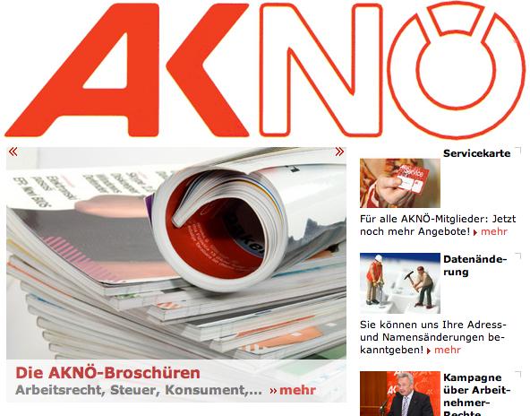 Homepage Arbeiterkammer Niederösterreich