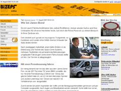 Homepage BIZEPS-INFO online