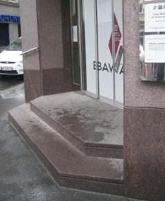 BAWAG Filiale mit Stufen