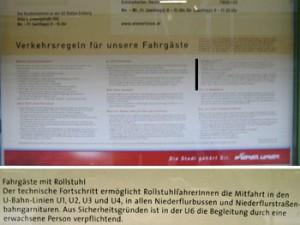 Beförderungsbestimmungen der Wiener Linien
