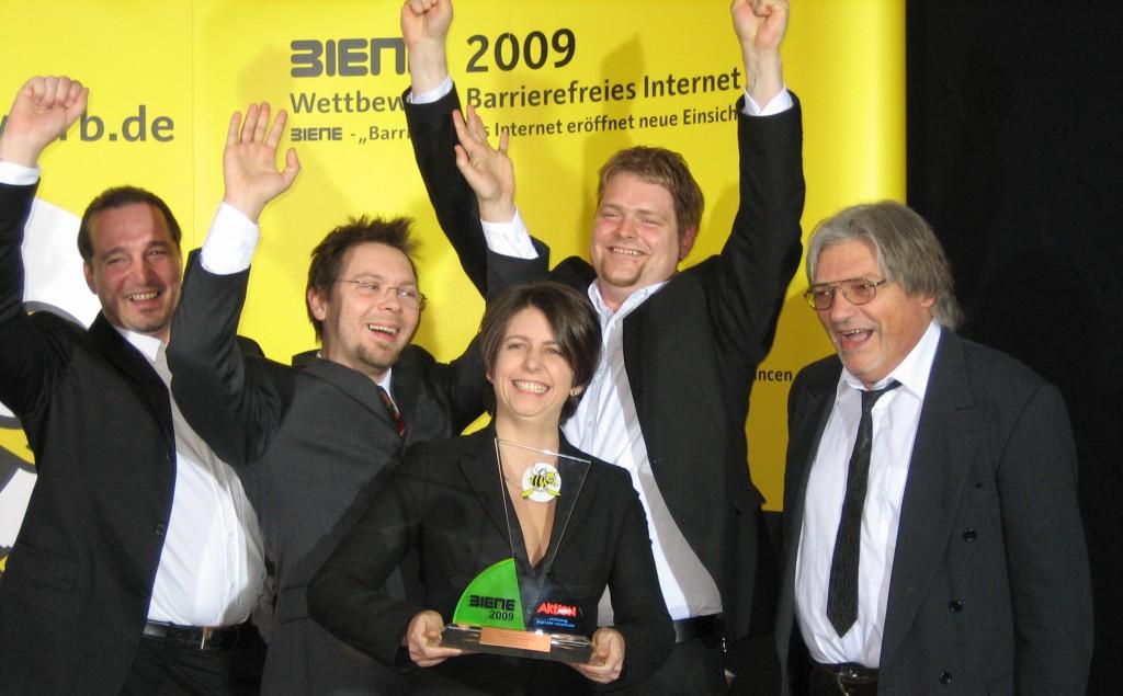 echonet gewinnt mit Kuratorium Fortuna BIENE 2009