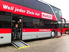 Blaguss Doppelstockbus mit Rampe