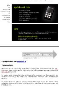 Teile von bob.at plus Prüfbericht von accessible media