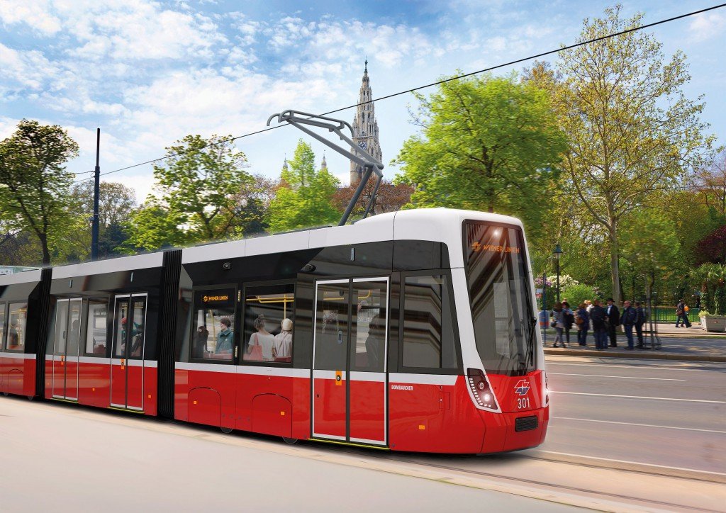 Flexity-Niederflurstraßenbahn von Bombardier