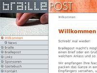 Homepage Braillepost