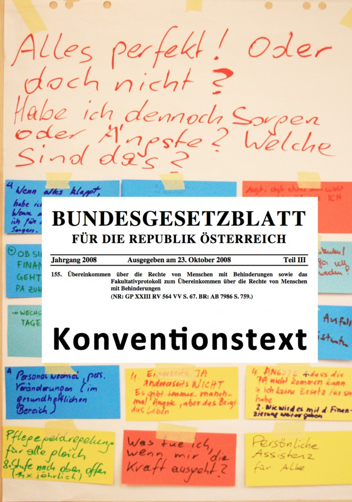 Deckblatt Broschüre zur UN-Behindertenrechtskonvention