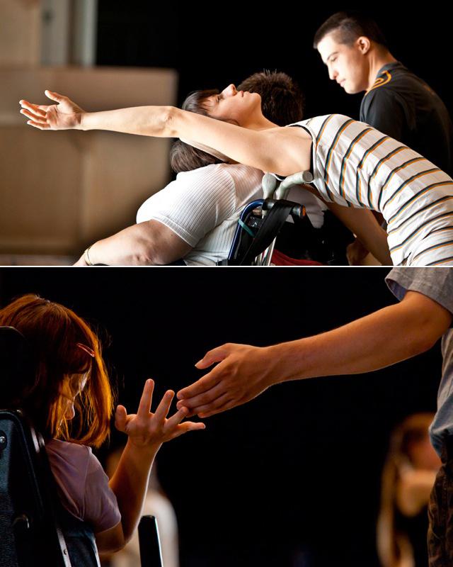 Szene von DanceAbility-Tanz