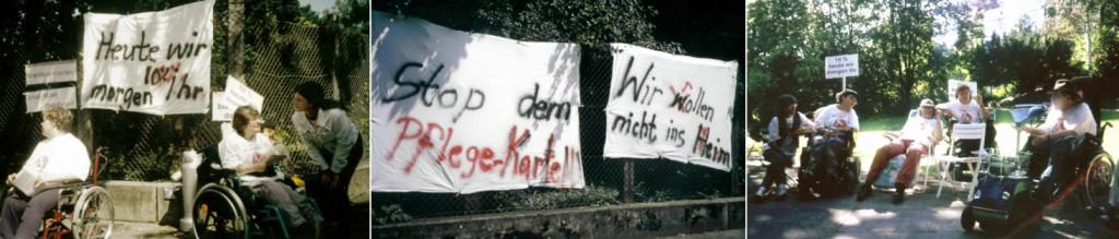 Demo 1997 für Persönliche Assistenz im Kocherpark