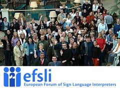 efsli-Europäisches Forum der GebärdensprachdolmetscherInnen