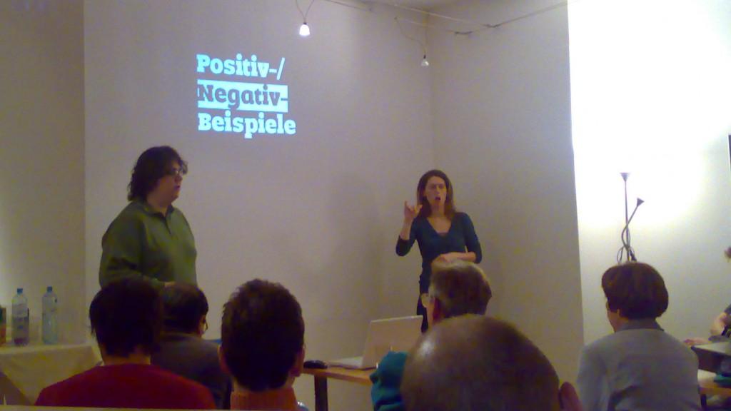 Eric Eggert zeigt Positiv-/Negativ-Beispiele