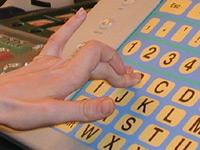 Tastatur mit großen Buchstaben