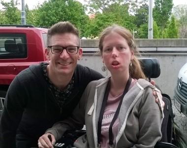 Andi Knoll und Karin Ofenbeck beim Eurovision Song Contest