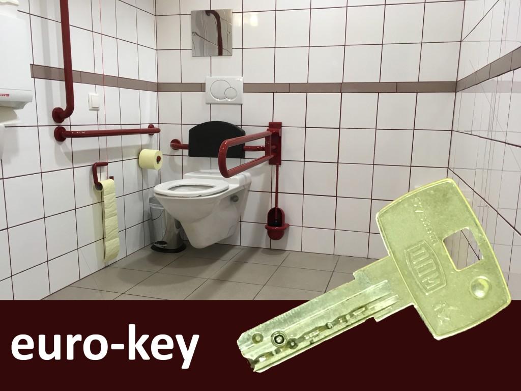 Behinderten wc schlüssel
