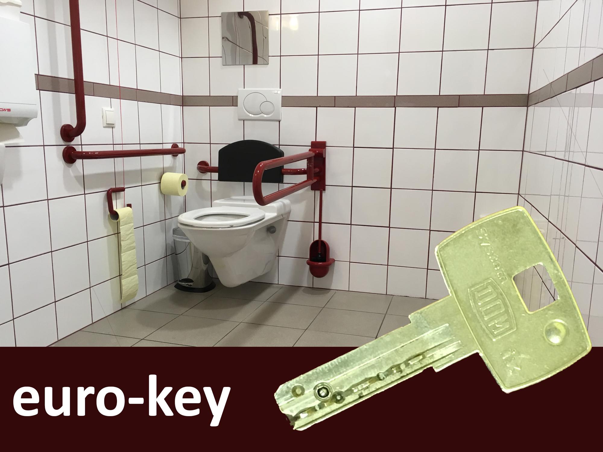 EURO-Schlüssel für barrierefreies WC