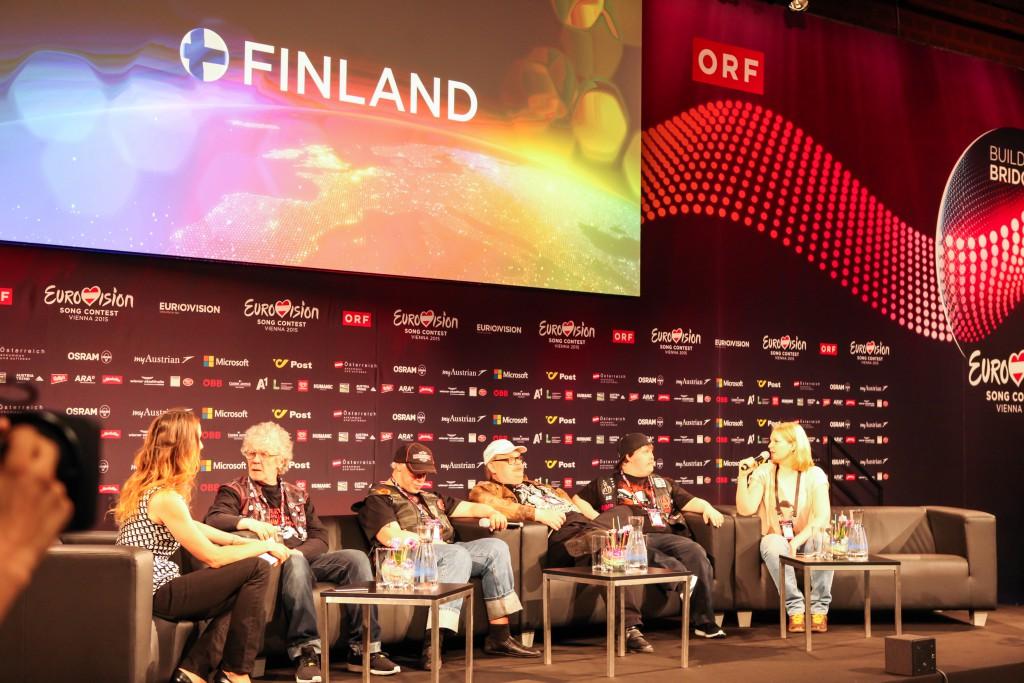 Pressekonferenz Finnland beim ESC 2015 in Wien