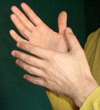 gebärdende Hände