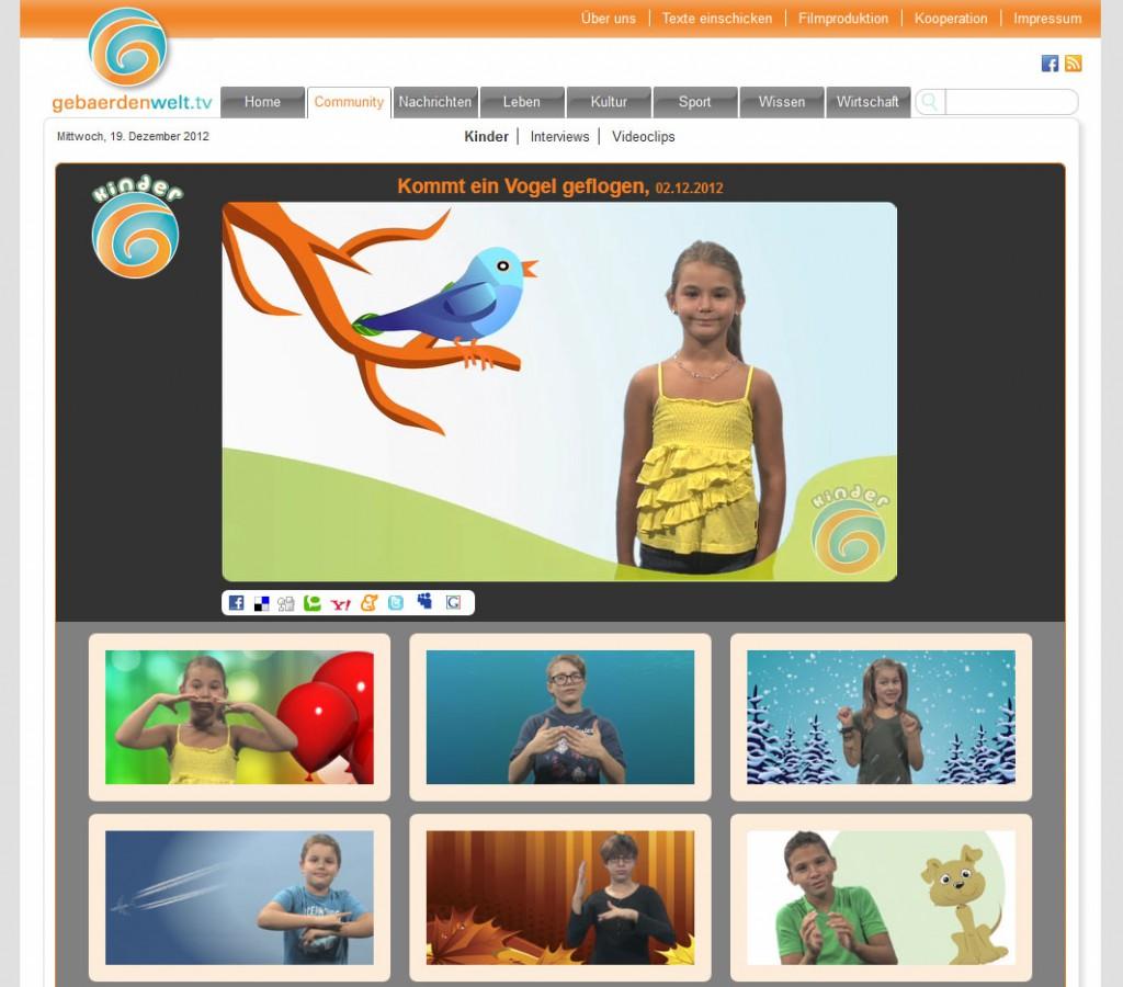 Kinder gebärden für GebärdenweltTV