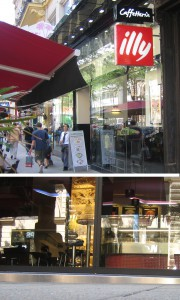 Stufe beim Cafe Illy Mariahilferstraße 31