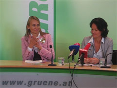 Helene Jarmer und Eva Glawischnig