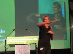 Helene Jarmer bei Grünen Bundeskongress 2008