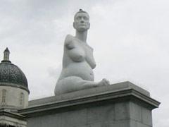 Statue von Alison Lapper  in London