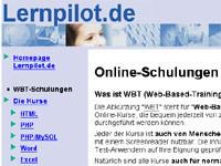 Internetseite lernpilot - Schulungen