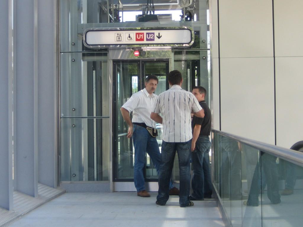 Neueröffnung eines Aufzuges am Praterstern