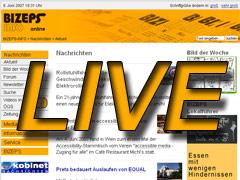 BIZEPS-INFO berichtet LIVE