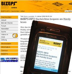 BIZEPS mobil Darstellung