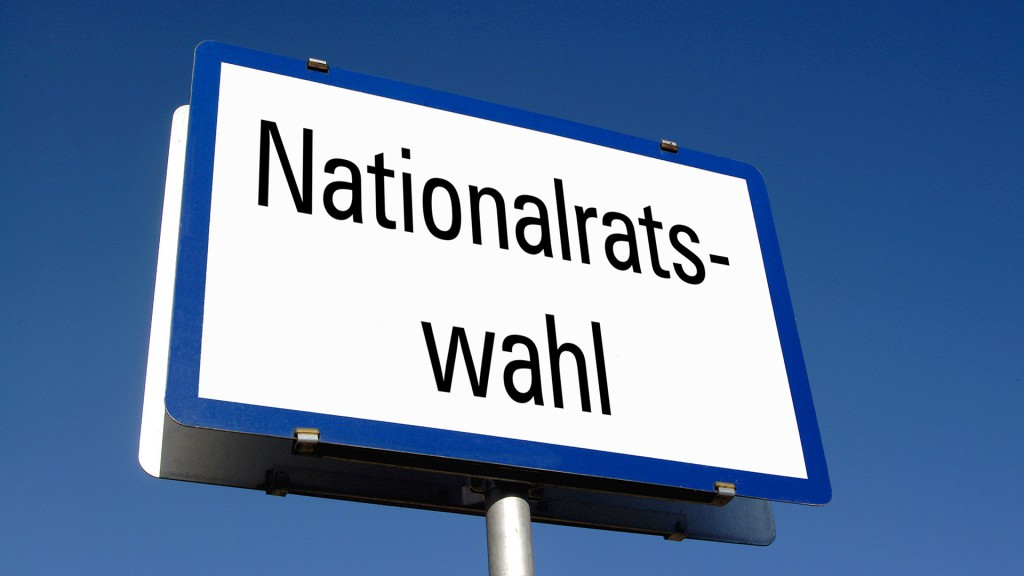Schild: Nationalratswahl