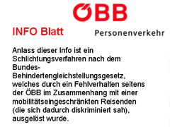 Auszug Infoblatt der ÖBB zur Anmeldung
