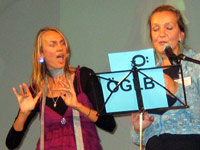 Helene Jarmer und Birgit Thiel