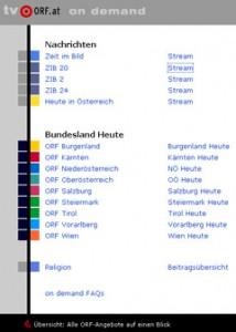 ORF IPTV-Angebote