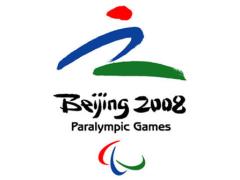 Logo der Paralympics 2008 in Peking