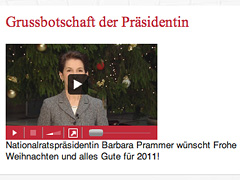 Screenshot Weihnachtsvideo Parlament