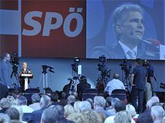 SPÖ Parteitag 2008 in Linz mit Werner Feymann