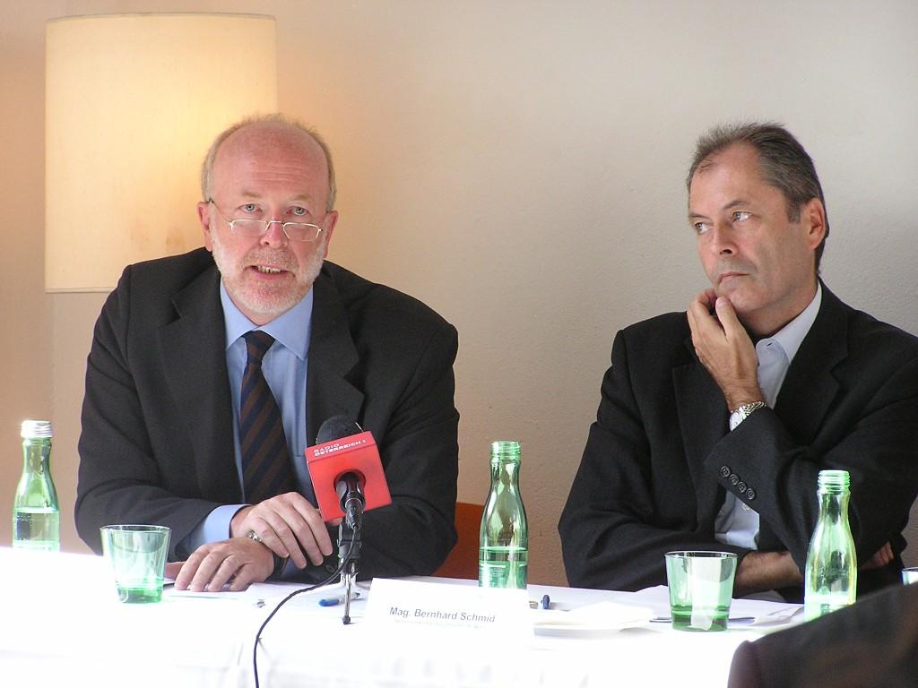 Germain Weber und Bernhard Schmid / Pressekonferenz