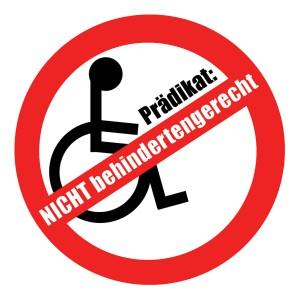 Etikette nicht behindertengerecht