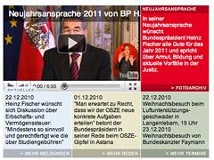 Screenshot Bundespräsident wüscht frohe Weihnachten