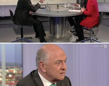 Erwin Pröll in der ORF-Pressestunde am 1. März 2015