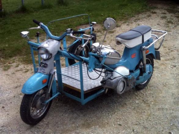 puch moped mit rollstuhlplatz bizeps. Black Bedroom Furniture Sets. Home Design Ideas