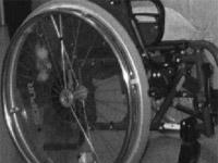 Reifen eines Rollstuhles