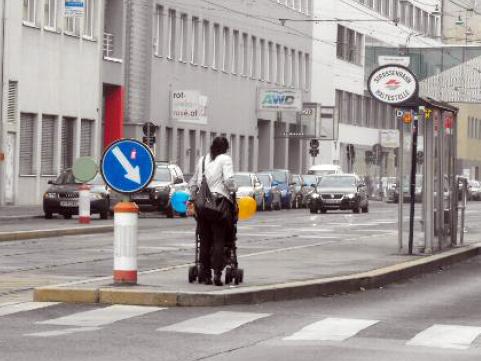 Station Rampengasse ohne Rampe