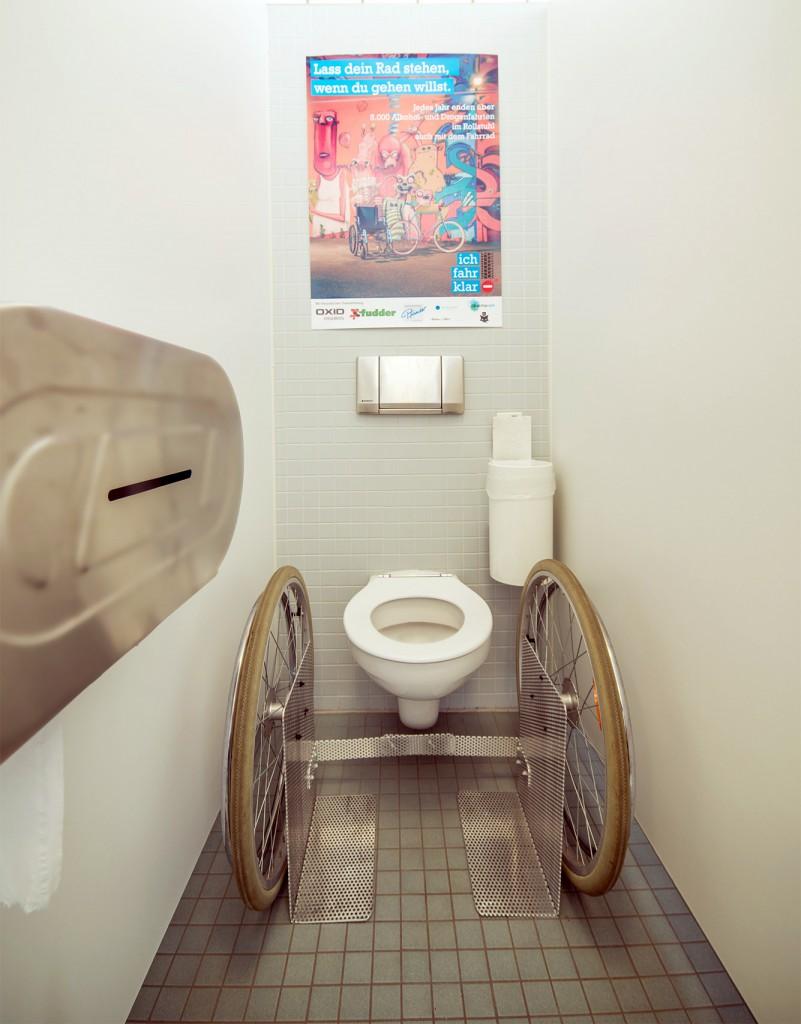 Kampagne Ich fahr klar / Rollstuhl WC