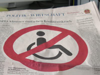 Behinderte Menschen unerwünscht