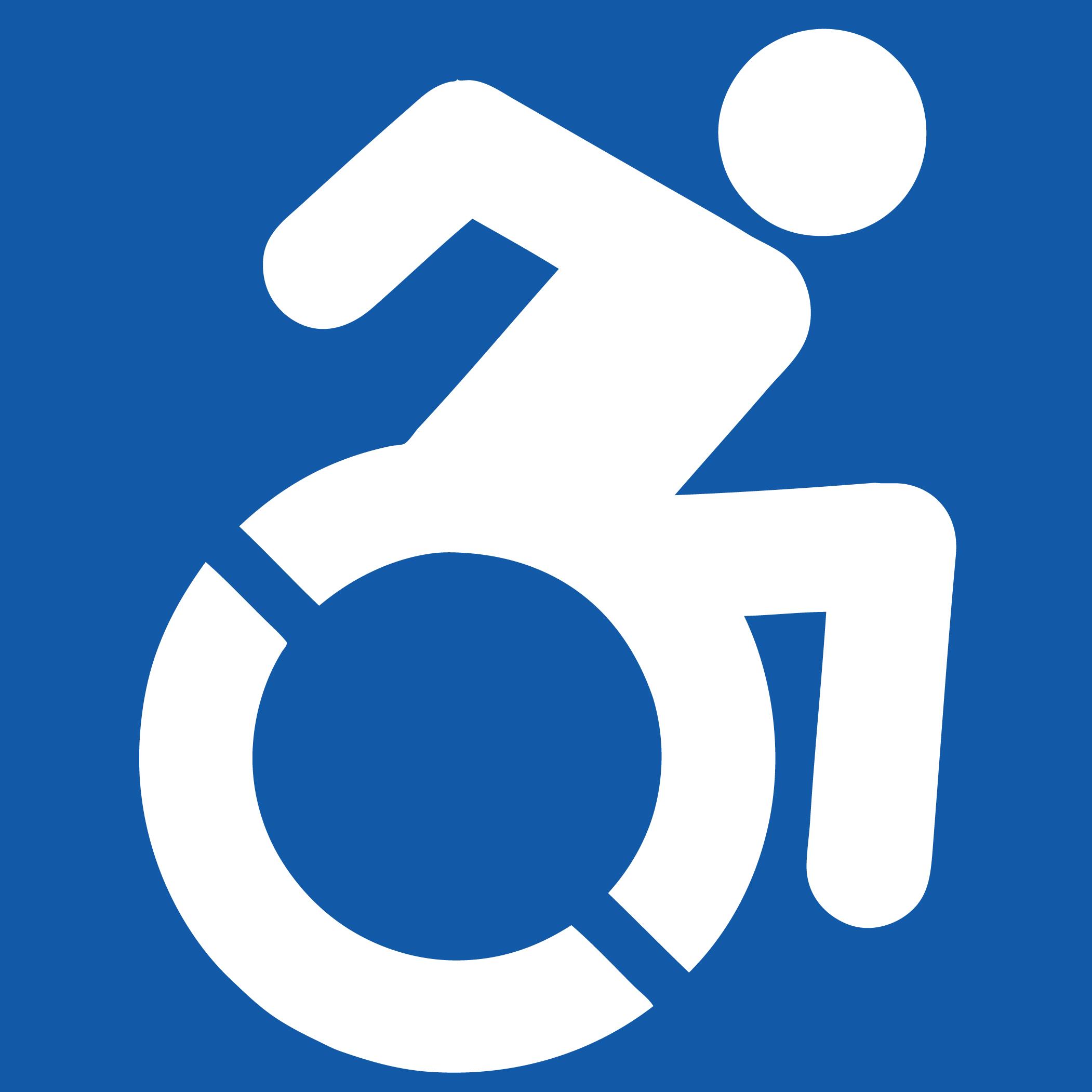 Neues Rollstuhlsymbol zeigt aktiveren Lebensstil